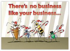 Bug Business Extermination Christmas Card