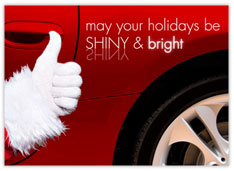 Shiny & Bright Auto Sales Christmas Card