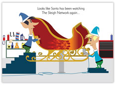 The Sleigh Network Auto Body Card