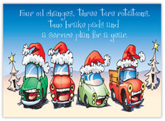 Four Days of Car Care Auto body Christmas Card