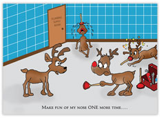 Plumbing Humorous Christmas Card