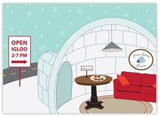 Open House Igloo Realtor Card