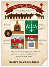 Santa's Ideal Home Realtor Card