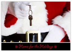 New Home Keys Realtor Christmas Card