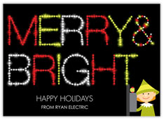 Switch On the Holidays Electrician Card