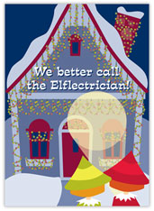 Elf-lectrician Christmas Card