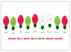 Bright and Colorful Electrician Christmas Card