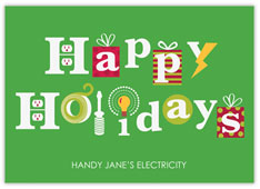 Happy Holidays Electrical Card