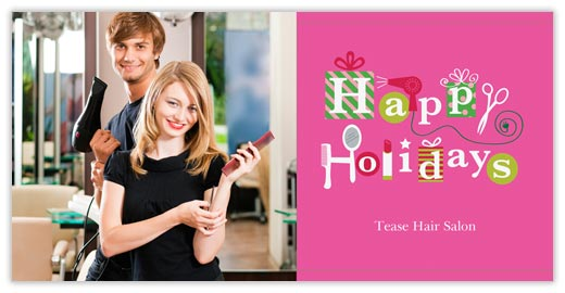 Home gt holiday cards gt profession cards gt beauty salon photo card