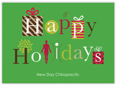 Happy Holidays Chiropractic Card