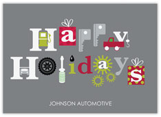 Happy Holidays Auto Card