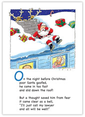 Santa on the Roof Legal Card