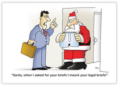 Legal Briefs Holiday Card