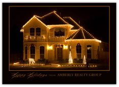 Brilliant Holiday Realtor Card