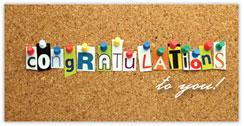 Corkboard Congrats Card