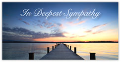 Calming Waters Sympathy Card
