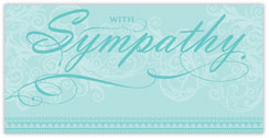 Faded Flourish Sympathy Card