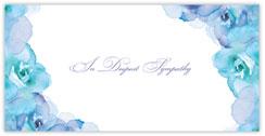 Watercolor Roses Sympathy Card