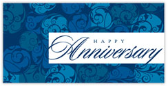 Anniversary in Blue Card