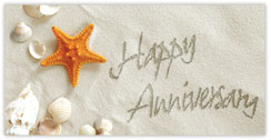 On the Beach Anniversary Card
