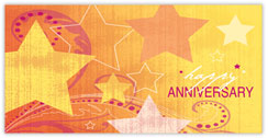 Golden Stars Anniversary Card