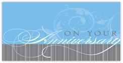 Faint Flourish Annivesary Card