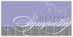 Faint Flourish Sympathy Card
