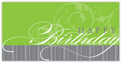 Faint Flourish Birthday Card