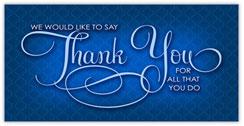 True Blue Thank You Card