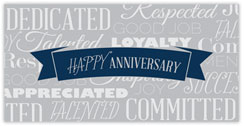 Words to Appreciate Anniversary Card
