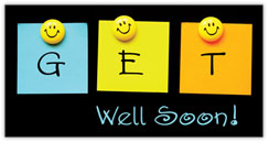 Smiley Get Well Card