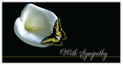 Butterfly and Lily Sympathy Card