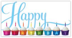 Birthday Greeting Cupcakes Card