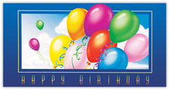 Up Past the Clouds Birthday Card