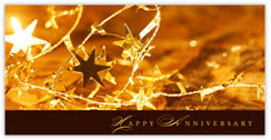 Golden Glow Anniversary Card