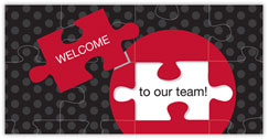 Puzzle Complete Welcome Card