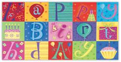 Patchwork Happy Birthday Card