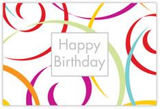 Swirls of Fun Birthday Postcard