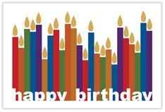 All Lit Up Birthday Postcard