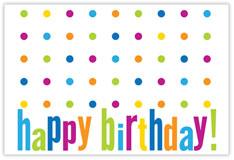 Polka-Dot Party Birthday Postcard