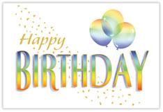 Rainbow Wishes Birthday Postcard