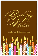 Chocolate Wishes Birthday Postcard