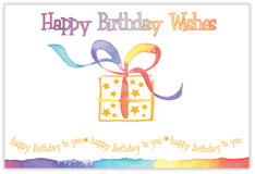 Happy Birthday Wishes Postcard