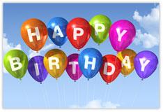Colorful Birthday Balloons Postcard