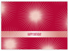 Red Birthday Burst Card
