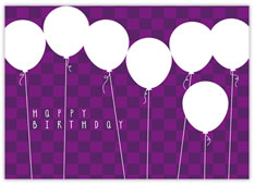 Purple Balloon Bonanza Birthday Card
