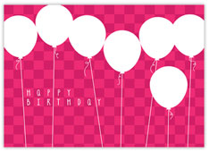 Pink Balloon Bonanza Birthday Card