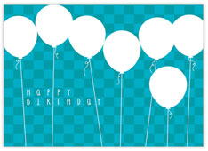 Blue Balloon Bonanza Birthday Card