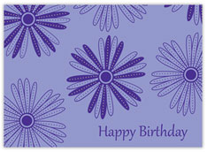 Purple Birthday Daisies Card