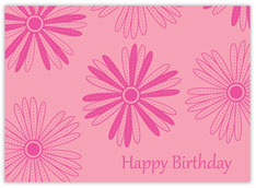 Salmon Birthday Daisies  Birthday Card